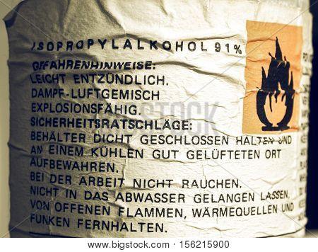 Vintage Looking Danger Sign