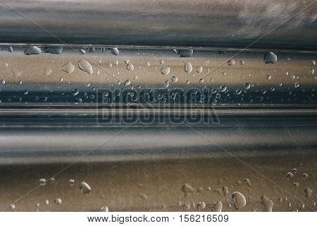 The New Rain Water Draining Metal Downpipe.