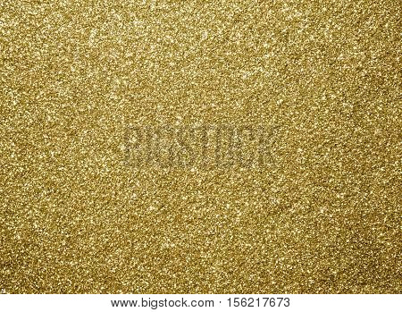 Gold Glitter Texture, Gold Color For Christmas Abstract Background.