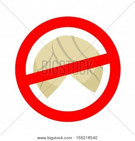 Stop Migrants. Ban Illegal Migration. Red Prohibition Sign. Crossed Turban