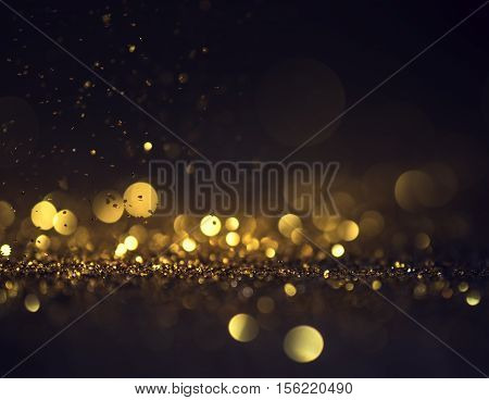 glitter lights grunge background glitter defocused abstract Twinkly Lights and Stars Christmas Background.