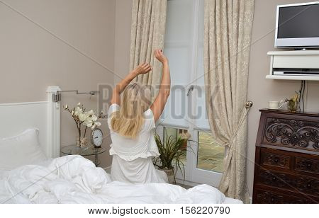 Woman In Pose For Waking