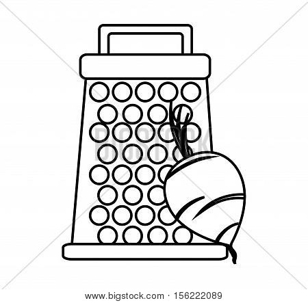 Grater icon. Kitchen supply domestic and household theme. Isolated design. Vector illustration
