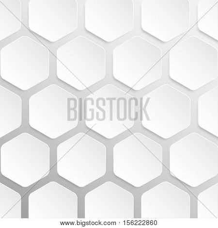 Paper banner template for business design, infographics. Vector illustration eps10. Vector object for your idea. Mockup. Hexagon honeycomb.