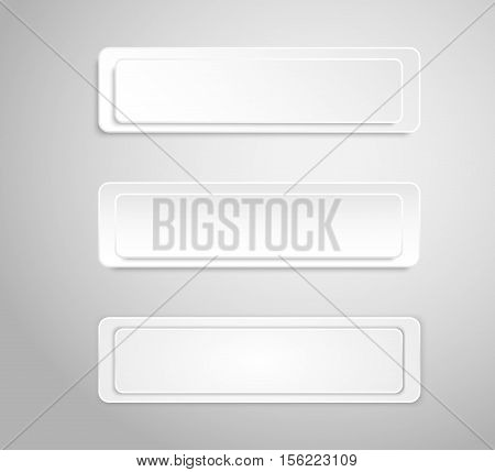 Paper banner template for business design, infographics. Vector illustration eps10. Vector object for your idea. Mockup. Rectangle.