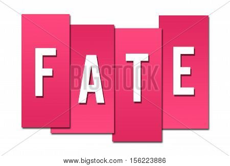 Fate text alphabets written over pink background.