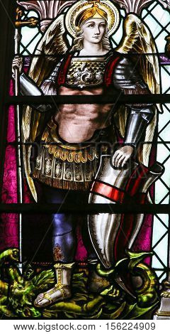 Saint Michael The Archangel - Stained Glass