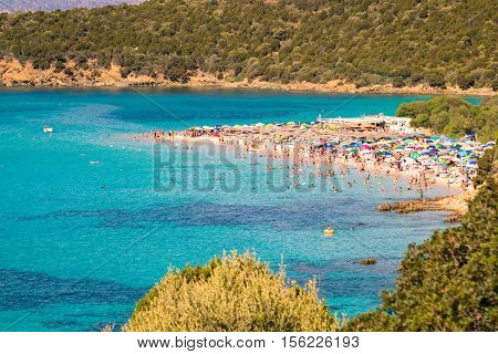 Tuerredda is considered one of the most beautiful beaches in Sardinia for its white sand and the clear color of the sea which recalls a Caribbean landscape.