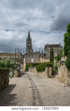 Saint-Emilion - one of the main red wine production areas of Bordeaux region France.