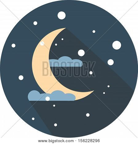 moon, night, astronomy, star, space, object, background vector moonlight moon sky moon icon image lunar nature design