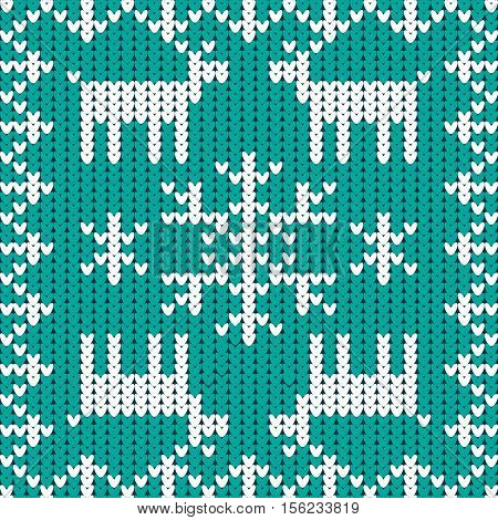Knitting in winter style. Snowflake, Winter Christmas