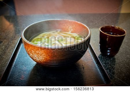 Big Bowl Of Hot Udon, Local Japan Food