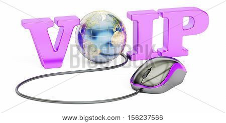 VoIP concept 3D rendering isolated on white background