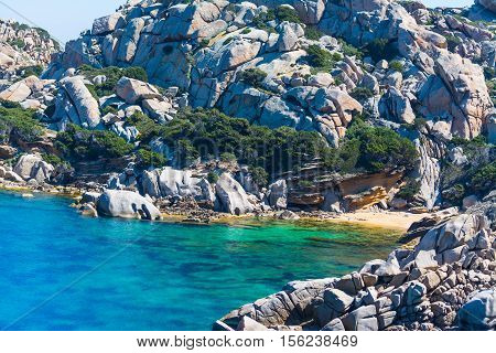 a small beach in Capo Testa Sardinia