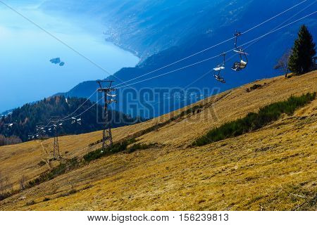 View Of Locarno And Lake Maggiore From The Cardada-cimetta Mountain Range