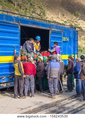 Local People Deboarding The Train