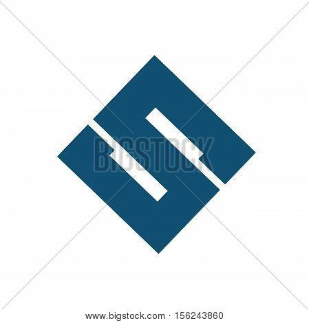 S letter initial logo design, s letter logo