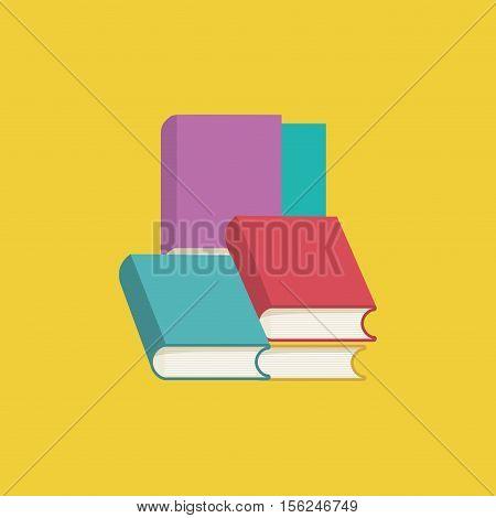 Books library education icon vector illustration graphic design