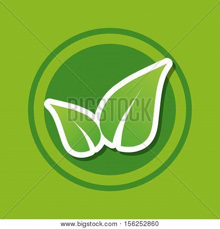 go green ecology icon vector illustration graphic design