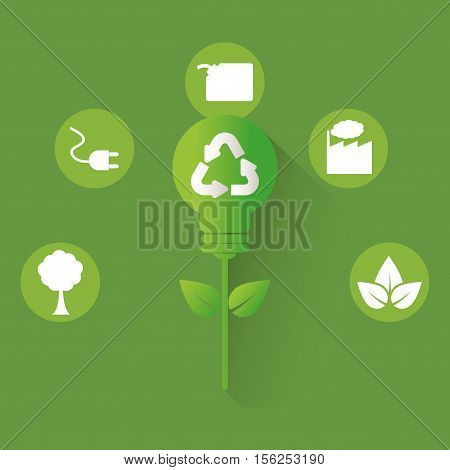 go green ecology icon vector illustration graphic design