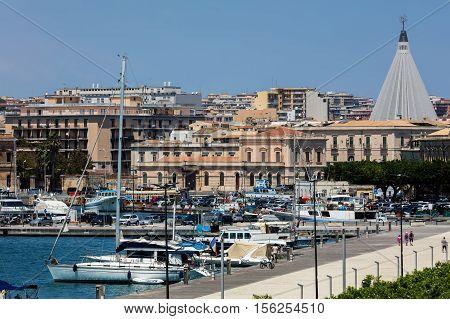 Porto Piccolo In Ortigia, Syracuse, Sicily, Italy