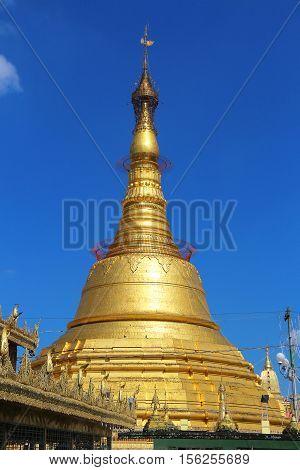 Botataung Pagoda - Yangon, Myanmar - Golden Temple