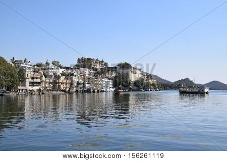 Amazing view of Udaipur and lake Pichola in Udaipur, Rajasthan, India