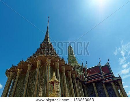 Ancient Temple at Grand Palace Thailand Bangkok