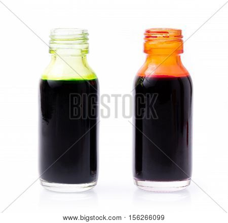 Liquid Food Color Additive Isolated On White Background