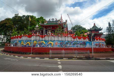 Tua Pek Kong Chinese Temple in Chinatown. Kuching Sarawak. Malaysia. Borneo