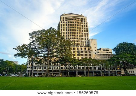 Cotton Silk Tree And Merdeka Palace Hotel In Kuching