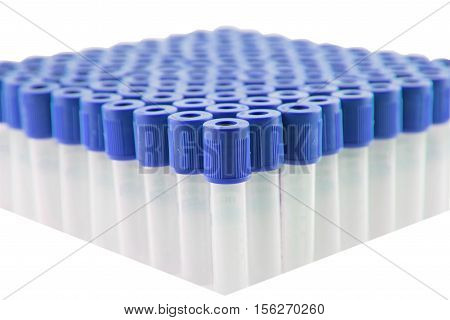 NaF Blood sample tube,Blood collection tube for laboratory isolated on white background(have clipping path)
