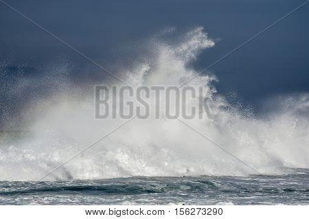 Crashing Wave In Ocean