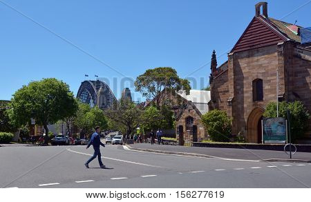 Garrison Church At The Rocks In Sydney, Australia