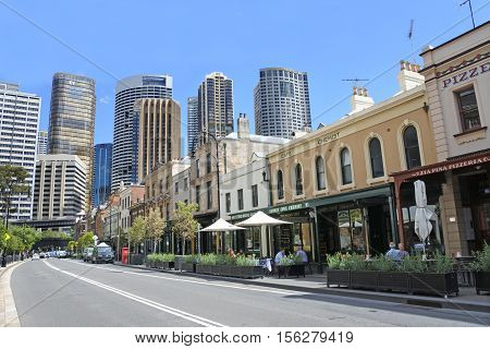 George Street At The Rocks In Sydney Australia