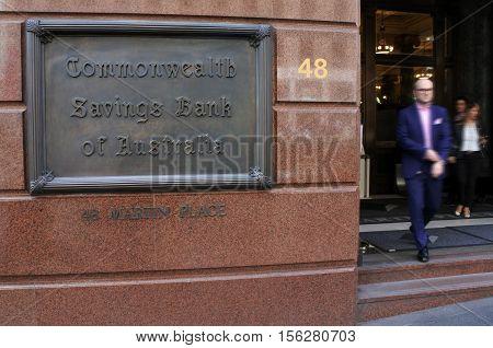 Commonwealth Bank Of Australia Sydney New South Wales Australia