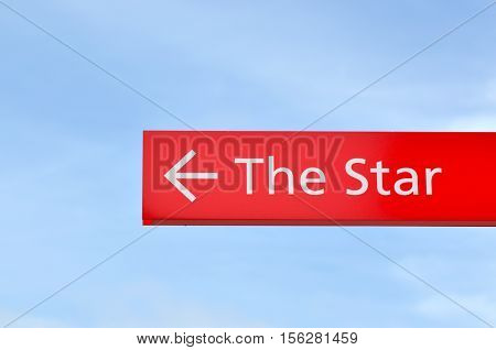 Signpost With Arrow Show The Way To The Star Sydney New South Wales Australia