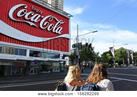 The Coca-cola Billboard Above Kings Cross Station In Sydney, Australia