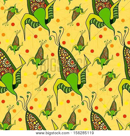 Seamless pattern of decorative corn. Abstract corn
