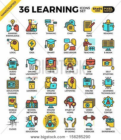 Learning, Education Concept, Icons
