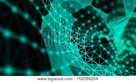 Futuristic virtual technology background, Fiber virtual optic cables, fibre connection, telecomunications concept, digitally generated image.