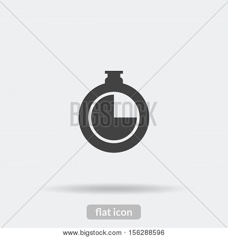 Clock Icon, Black Vector Is Type Eps10