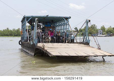 Small Boat Working On Trasport