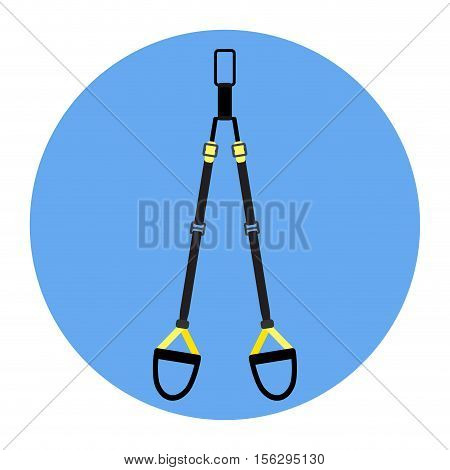 TRX flat icon. Suspension training personal training  and bosu gym exercise. Vector illustration