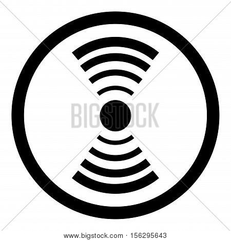 Internet access point is good signal. Router or switch network wireless signal. Vector illustration