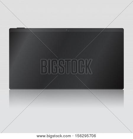 Tablet device vector. Tablet technology business tablet illustration