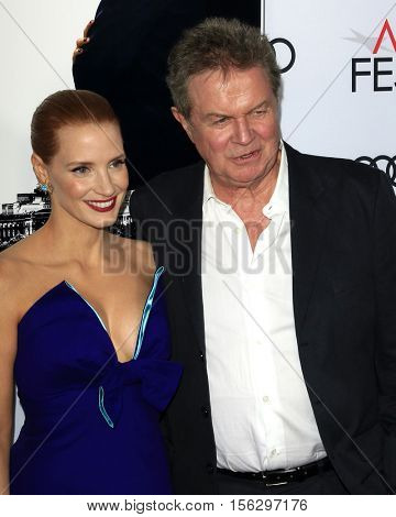 LOS ANGELES - NOV 11:  Jessica Chastain, John Madden at the