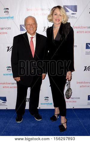 LOS ANGELES - NOV 10:  Chuck Binder, Sharon Stone at the 2016 TMA Heller Awards at Beverly Hilton Hotel on November 10, 2016 in Beverly Hills, CA