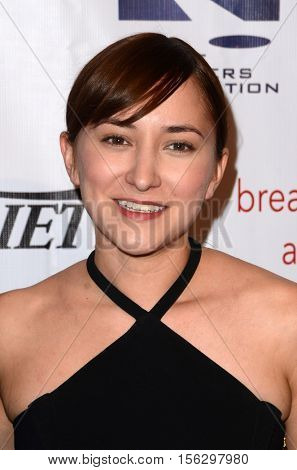 LOS ANGELES - NOV 10:  Zelda WIlliams at the 2016 TMA Heller Awards at Beverly Hilton Hotel on November 10, 2016 in Beverly Hills, CA