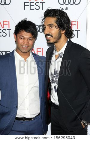 LOS ANGELES - NOV 11:  Saroo Brierley, Dev Patel at the LION AFI Fest Premiere at TCL Chinese 6 Theaters on November 11, 2016 in Los Angeles, CA